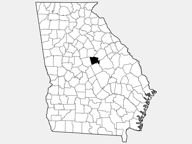 Baldwin County locator map