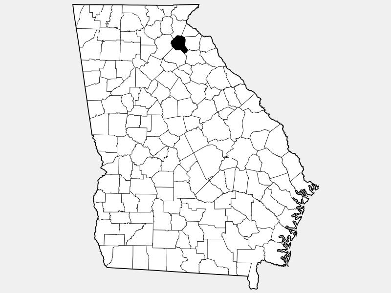 Banks County locator map