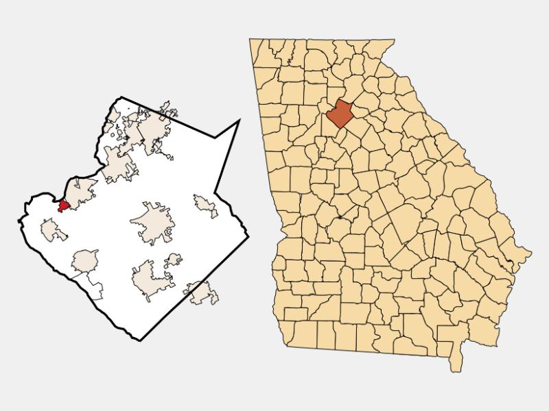 Berkeley Lake locator map