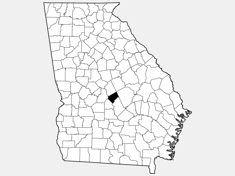Bleckley County location map
