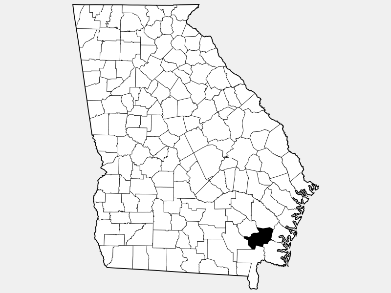 Brantley County locator map