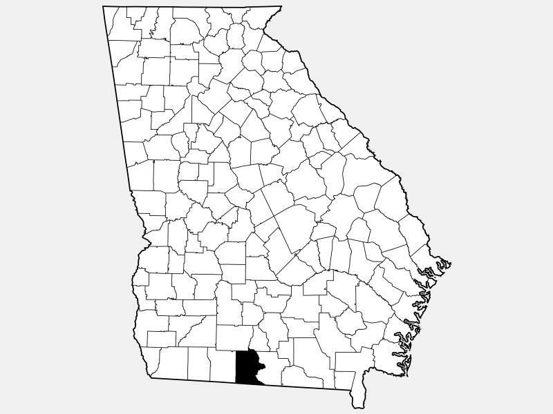 Brooks County locator map