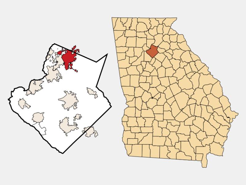 Buford locator map