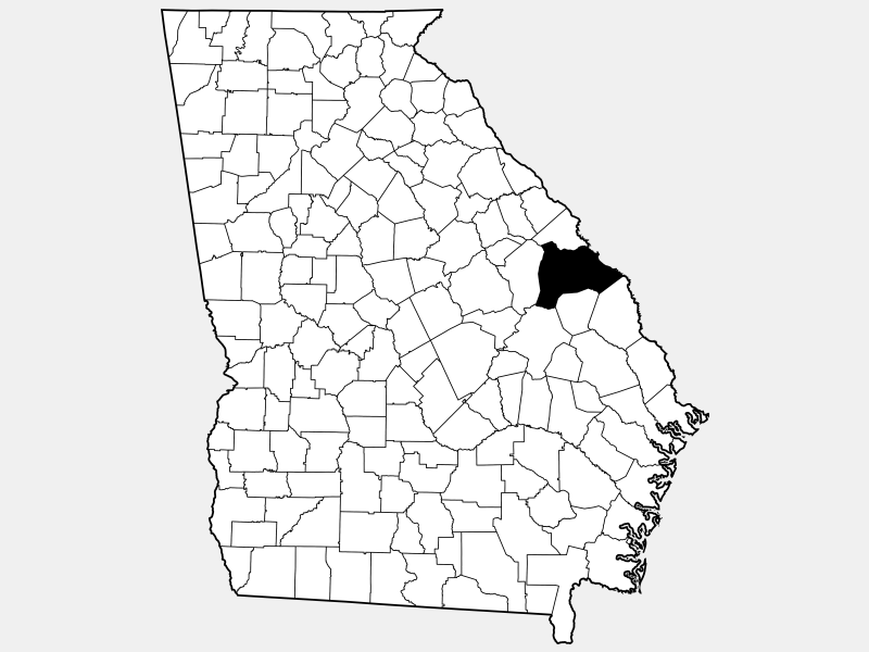 Burke County location map
