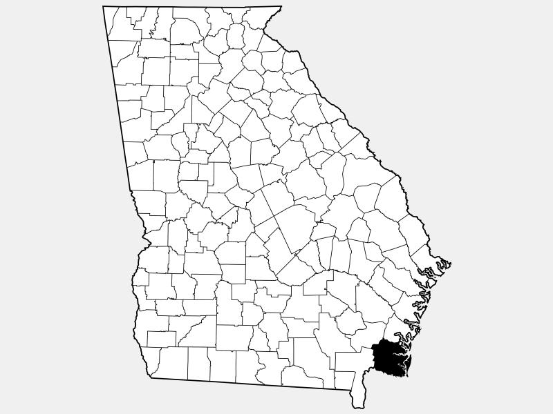 Camden County, GA locator map