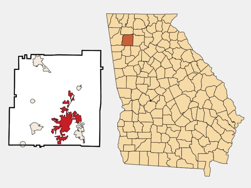 Cartersville location map