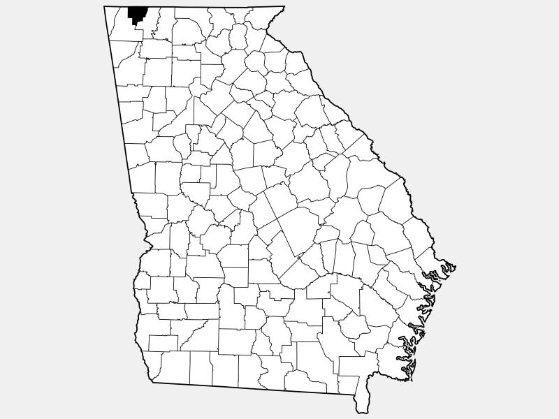 Catoosa County locator map