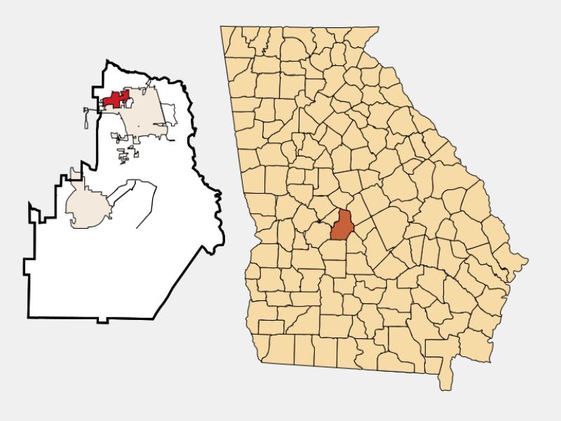 Centerville locator map