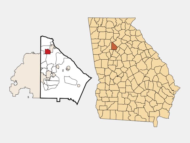 Chamblee locator map