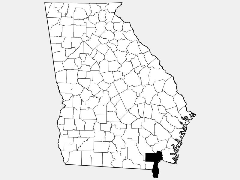 Charlton County locator map