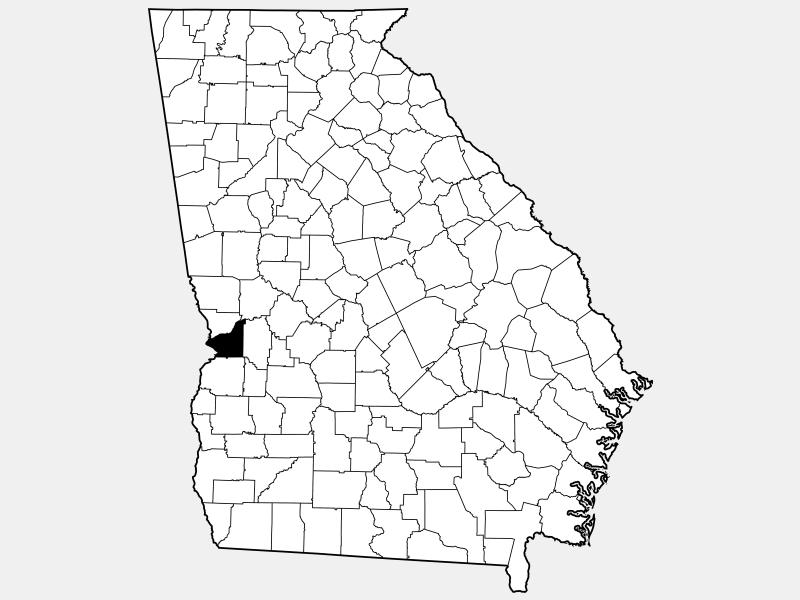 Chattahoochee County location map