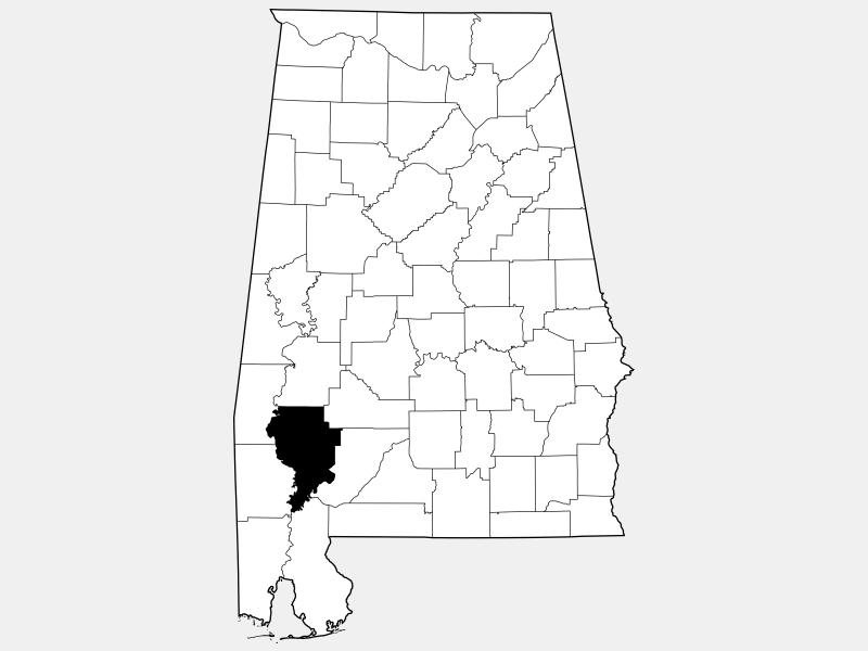 Clarke County locator map