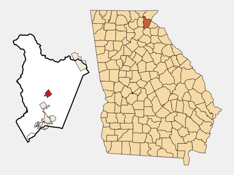 Clarkesville location map