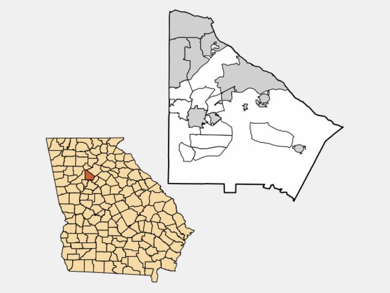 Clarkston locator map