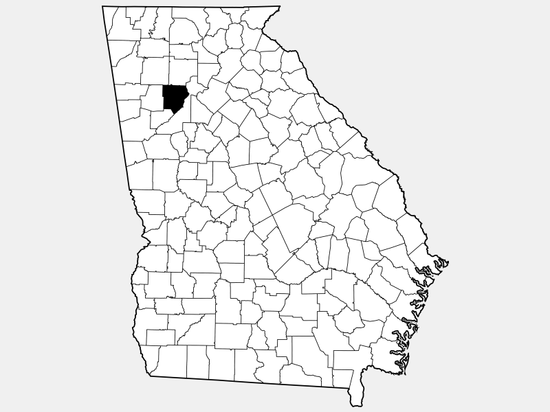 Cobb County locator map