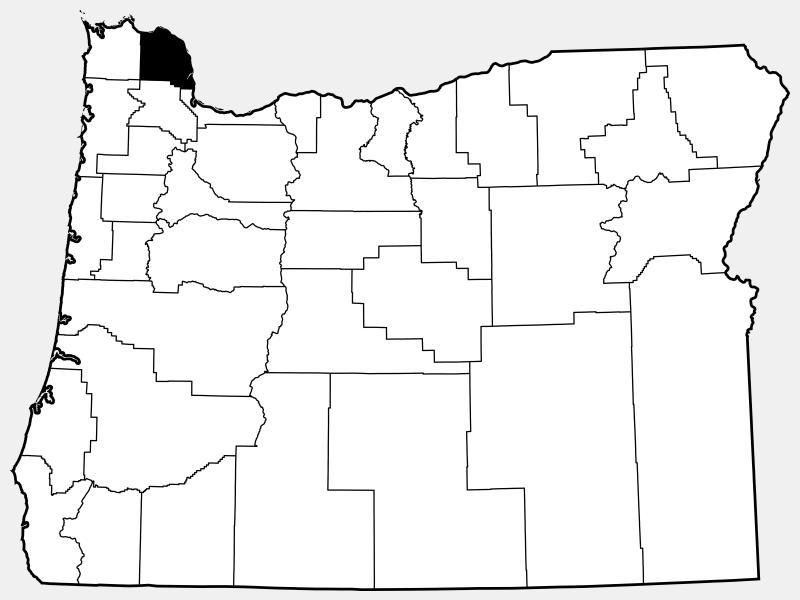 Columbia County locator map