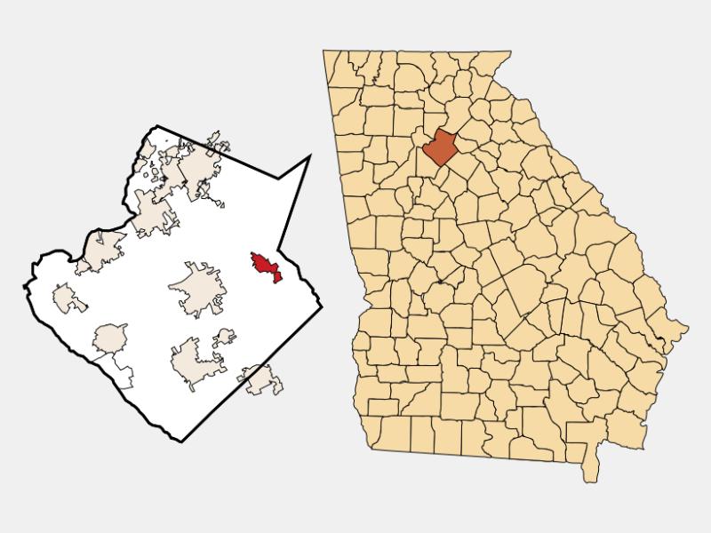 Dacula locator map