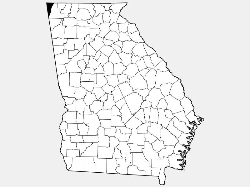 Dade County locator map