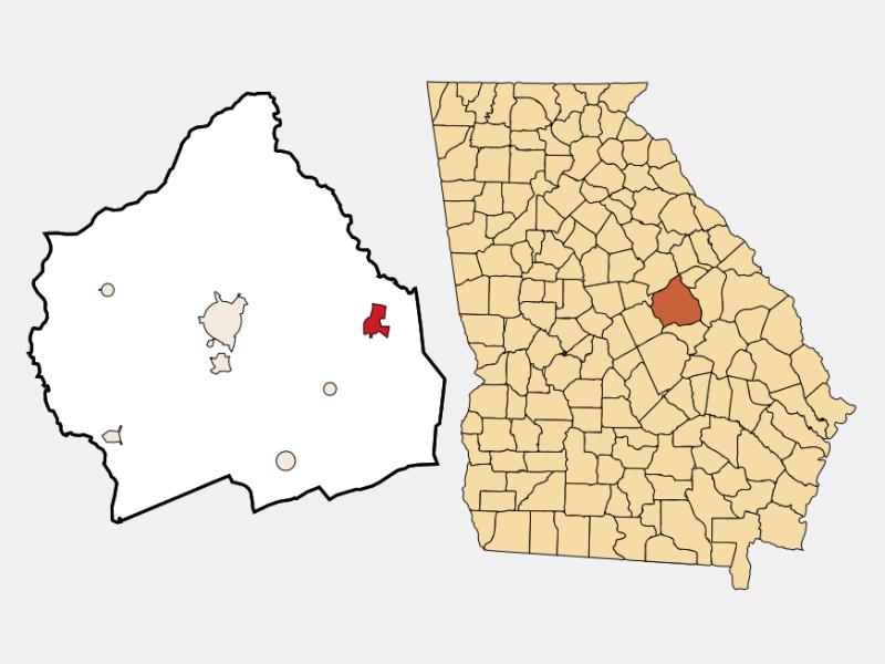 Davisboro locator map