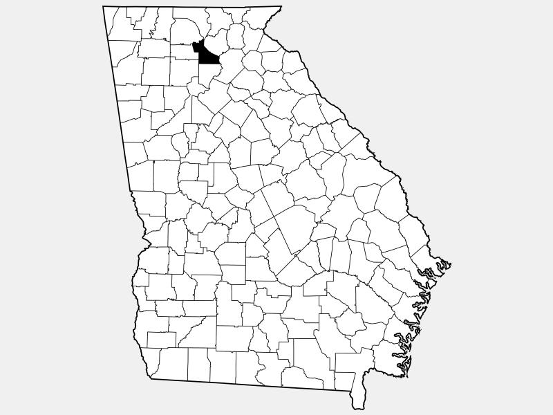 Dawson County locator map