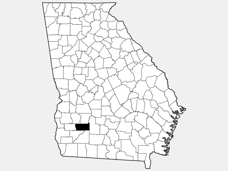 Dougherty County locator map