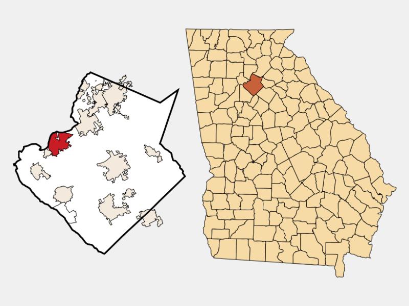 Duluth locator map
