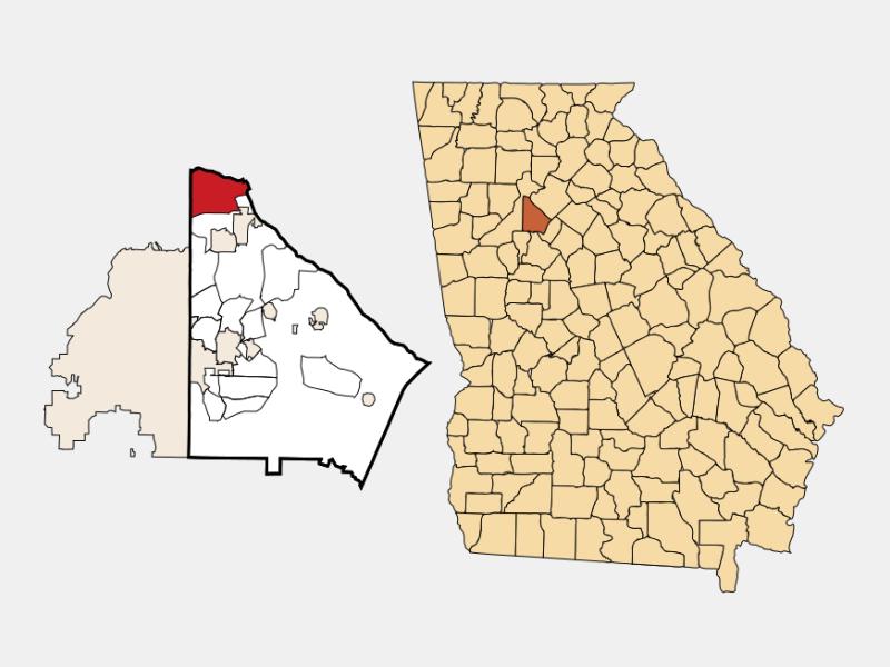 Dunwoody locator map