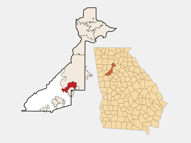 East Point locator map