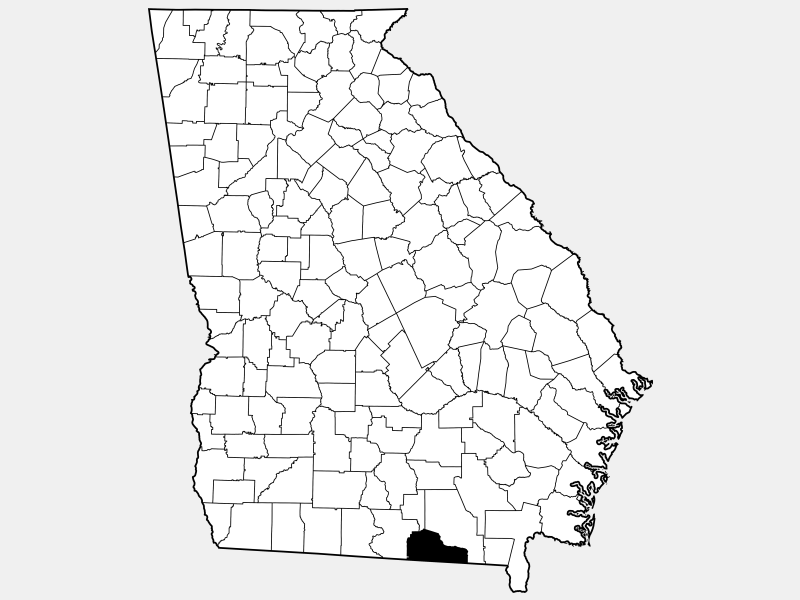 Echols County locator map