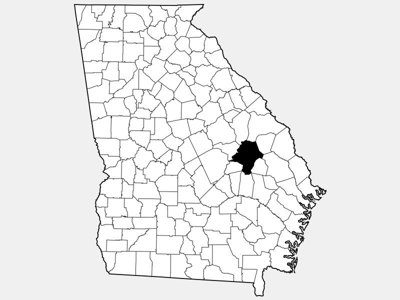 Emanuel County locator map