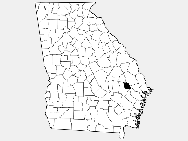 Evans County location map