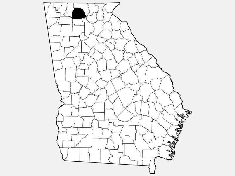 Gilmer County locator map