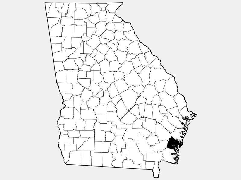 Glynn County locator map