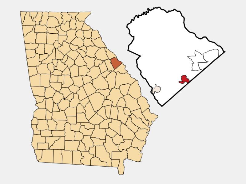 Grovetown locator map