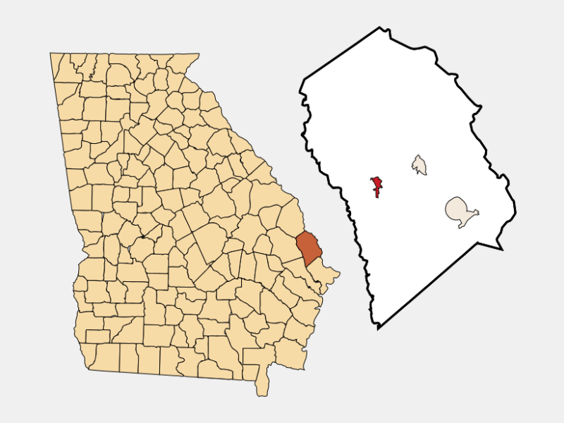 Guyton locator map