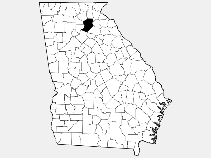 Hall County locator map