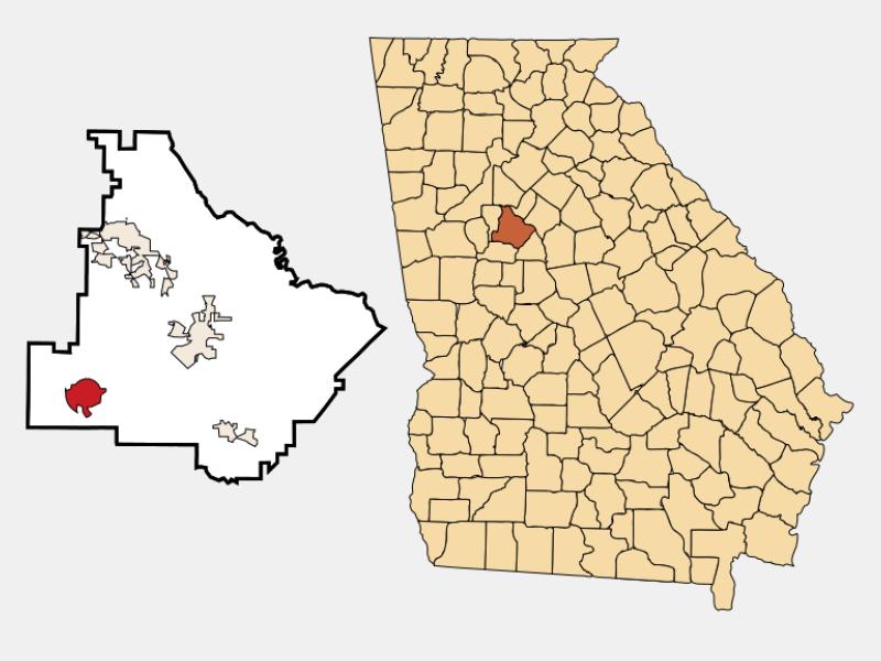 Hampton location map