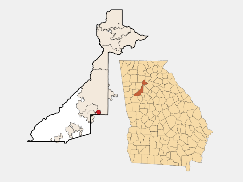 Hapeville locator map