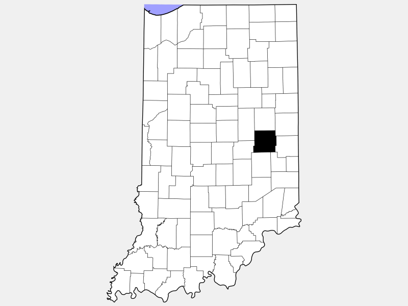 Henry County locator map