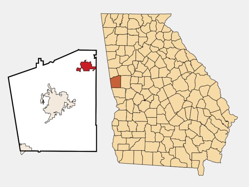 Hogansville locator map
