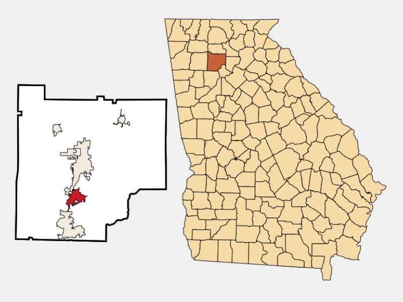 Holly Springs locator map
