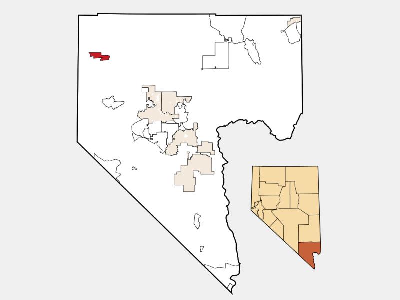 Indian Springs locator map