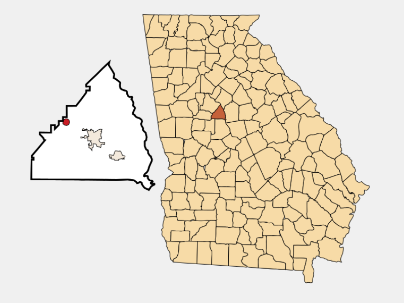 Jenkinsburg locator map