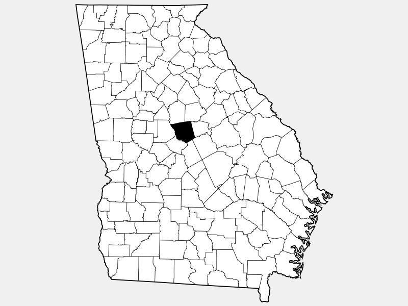 Jones County locator map