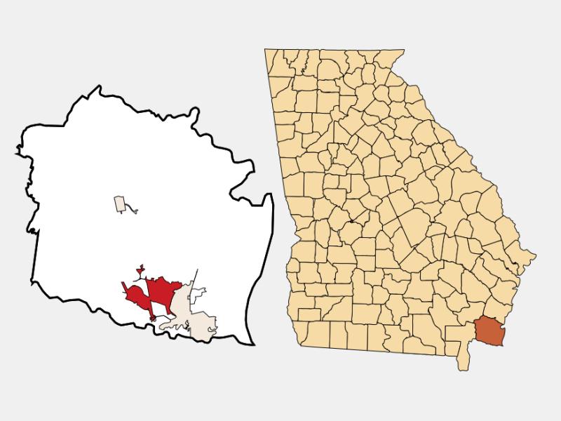 Kingsland locator map