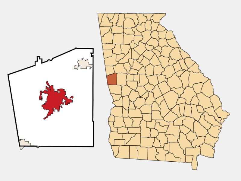 LaGrange locator map