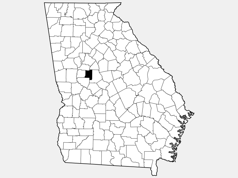 Lamar County locator map