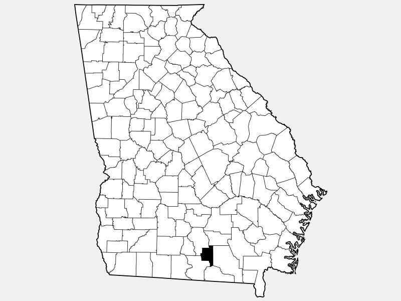 Lanier County locator map