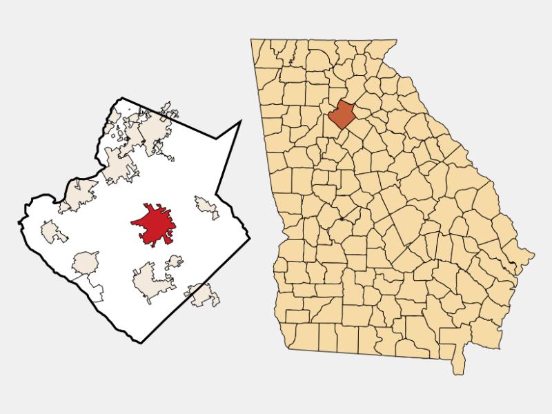 Lawrenceville locator map