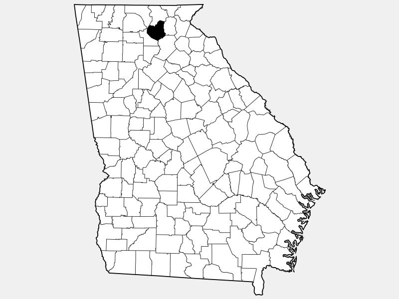 Lumpkin County locator map